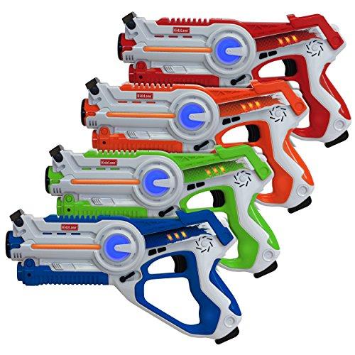 Kidzlane Laser Tag – Laser Tag Guns Set of 4 – Multi Function Lazer Tag Guns for Kids 4 Players –...