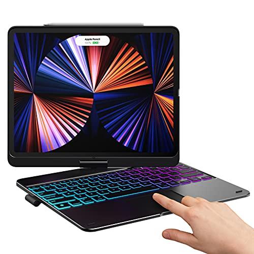 Typecase Touch iPad Pro 12.9 2021 Case with Keyboard & Trackpad, Magic Keyboard Style, Smart Backlit Keys, 360...