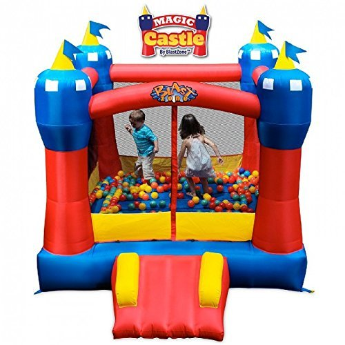 Blast Zone Magic Castle - Inflatable Bounce House with Blower - Premium Quality - Indoor/Outdoor - Portable -...