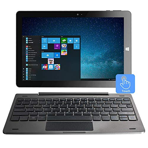 10.1 Inch Windows 10 Tablet 2-in-1 Touchscreen Mini Laptop with Detachable Keyboard/IPS 1280x800 /4GB RAM...