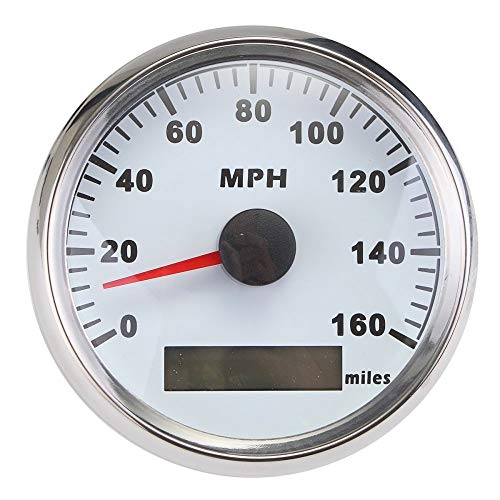 ELING Waterproof GPS Speedometer MPH Speedo Gauge 160MPH for Car Motorcycle Boat with Backlight 3-3/8 inch...