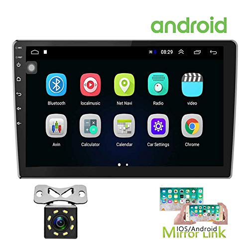 Hikity Double Din Android Car Stereo 10.1 Inch Touch Screen Radio Bluetooth WiFi GPS FM Radio Receiver Support...