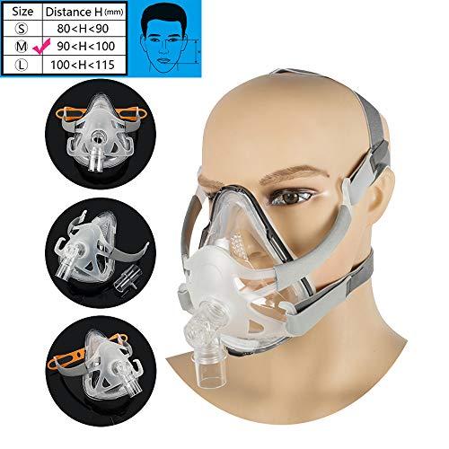 Denshine Adjustable Full Face Mask with Headgear for Sleep (M (90~100mm))