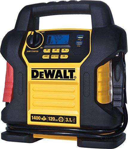 DEWALT DXAEJ14 Digital Portable Power Station Jump Starter: 1400 Peak/700 Instant Amps, 120 PSI Digital Air...