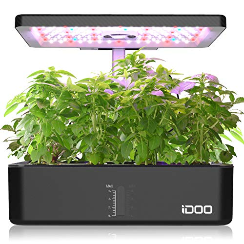 iDOO 12Pods Indoor Herb Garden Kit, Hydroponics Growing System with LED Grow Light, Smart Garden Planter for...