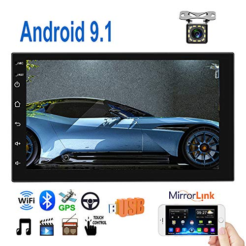Double Din Android 9.1 Car Radio 7'' TFT Touch Screen GPS Navigation 1G+16G Indash Car Stereo Support...
