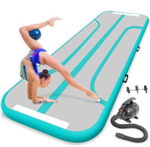 SereneLife Gymnastics Inflatable Air Tumbling Mat - 13 Ft Outdoor/Home Indoor Gymnastics Mat Air Track...