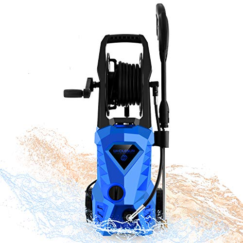 WHOLESUN 3000PSI Pressure Washer Electric 1.8GPM 1600W High Power Washer Machine with Spray Gun & 5 Nozzles...