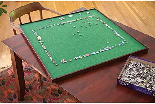 Bits and Pieces - Square Spinning Lazy Susan Puzzle Table - Rotating Jigsaw Puzzle Table - Fits 1500 Piece...