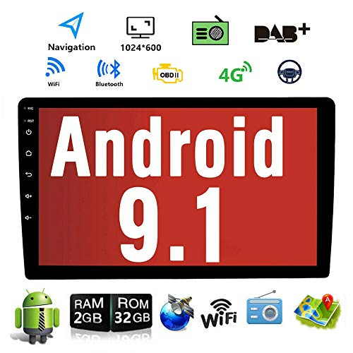 Android 9.1 10.1 Inch Touch Screen 2Din Car Multimedia Radio GPS Navigation in-Dash Car Stereo MP5 Player...