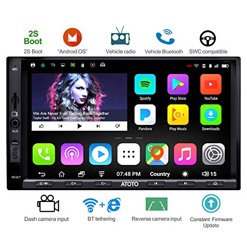 ATOTO A6 Double Din Android Car Navigation Stereo with Dual Bluetooth - Standard A6Y2710SB 1G/16G Car...