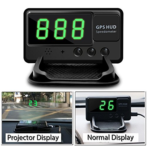 VJOYCAR C60 Hud GPS Speedometer, Heads Up Display for Cars Windshield Projector Digital Speed MPH Over...