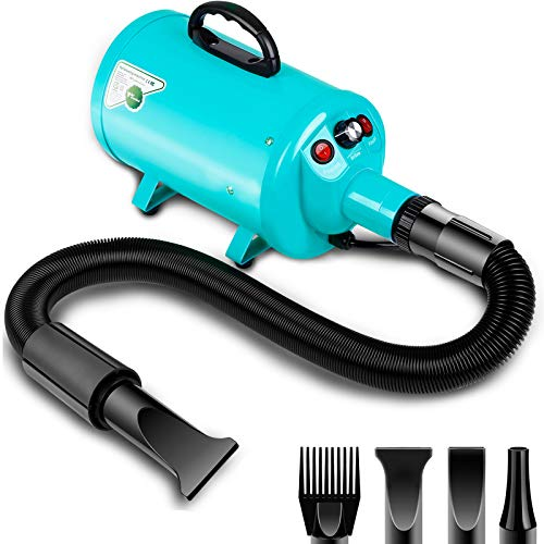 amzdeal Dog Dryer 2800W/3.8HP Stepless Adjustable Speed Pet Hair Grooming Blower, Home Use/Professional Pet...