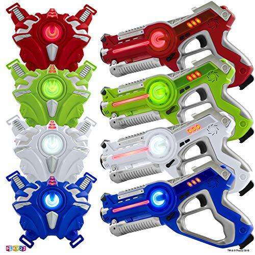 Play22 Laser Tag Sets Gun Vest - Infrared Laser Tag Set 4 Guns 4 Vests - Laser Tag Gun Toys for Indoor Outdoor...