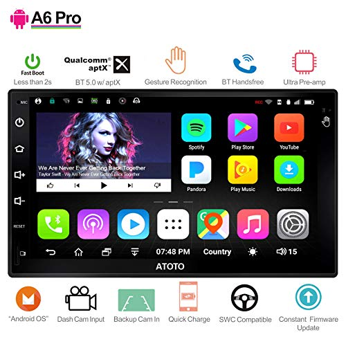 [New] ATOTO A6 2DIN Android Car Navigation Stereo - 2X Bluetooth & Phone Fast Charge - PRO A6Y2721PR-G Gesture...