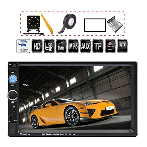 TDYJWELL 7 inch Double Din Touch Screen Car Stereo Upgrade The Latest Version MP5/4/3 Player FM Radio Video...