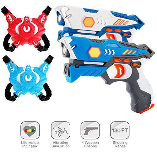 ComTec Laser Tag for Kids, Laser Tag Sets with Gun and Vest, Laser Guns Toys Gift for Boys Girls Game Party...