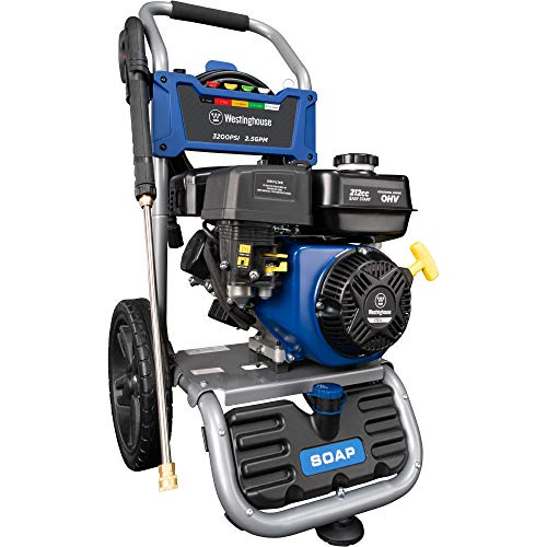 Westinghouse WPX3200 Gas Powered Pressure Washer 3200 PSI and 2.5 GPM, Soap Tank and Five Nozzle Set, CARB...