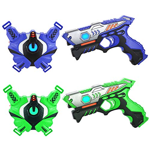 Laser Tag Guns Set with Vests, Infrared Guns Set of 2 Players