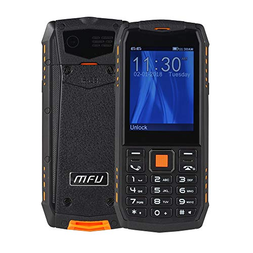 Senior Button Cell Phone,Rugged Phone Unlocked Cell Phone IP68 Waterproof Shockproof Dustproof Large Button...