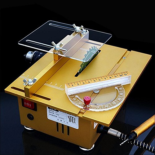 Multifunction Mini Table Saw Handmade Woodworking Bench Lathe Electric Polisher Grinder Cutting Machine with...