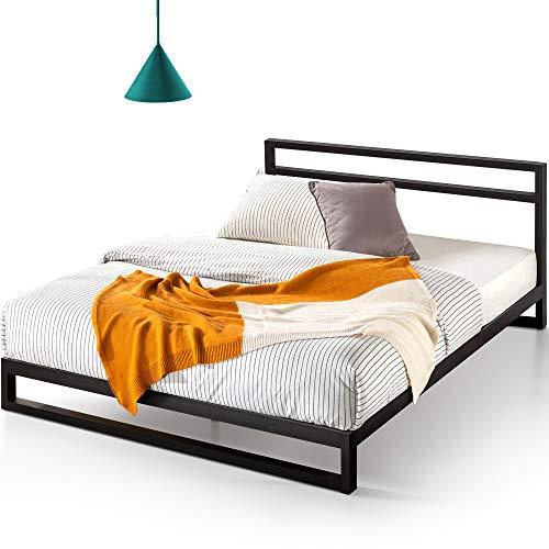 ZINUS Trisha Metal Platforma Bed Frame with Headboard / Wood Slat Support / No Box Spring Needed / Easy...