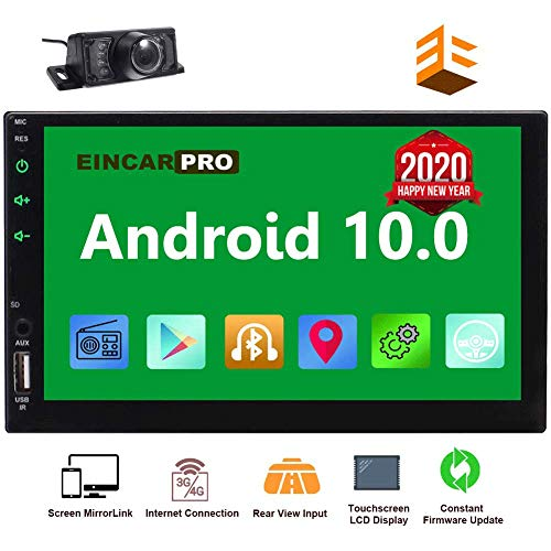 EinCar Car Radio Double Din Android 10.0 Car Stereo 2 Din GPS Navigation 7 inch Touch Screen Bluetooth Head...
