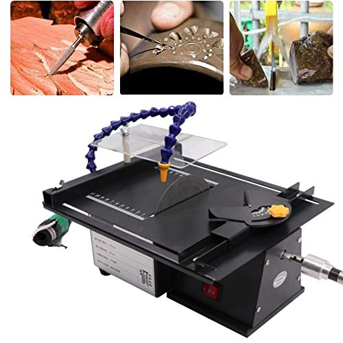 Water Cooling Jewelry Rock Polishing Saw Kit, Professional High-precision Gem Polishing Machine, 10000RPM Mini...