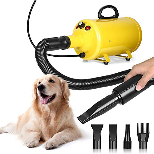 amzdeal Dog Dryer 3.8HP 2800W Stepless Adjustable Speed Dog Hair Dryer, Home Use/Professional Pet Grooming...