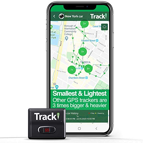 Tracki 2020 Model Mini Real time GPS Tracker. Full USA & Worldwide Coverage. for Vehicles, Car, Kids, Elderly,...