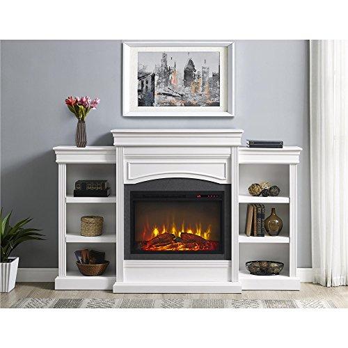 Ameriwood Home Lamont Mantel Fireplace, White,1815096COM