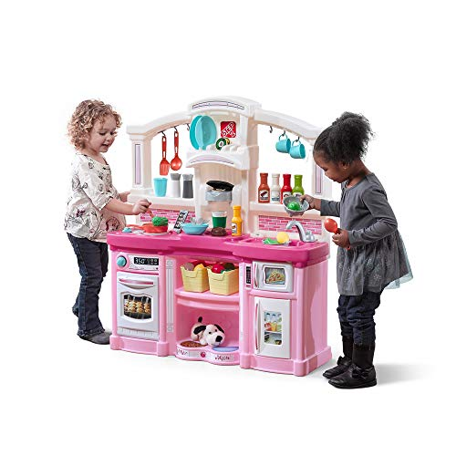Step2 Fun with Friends Kitchen | Pink Kitchen with Realistic Lights & Sounds |Play Kitchen Set | Pink Kids...