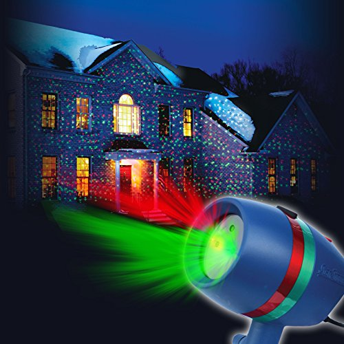 Star Shower Motion Laser Light by BulbHead - Indoor Outdoor Laser Light for Hassle-Free Holiday Decorating –...