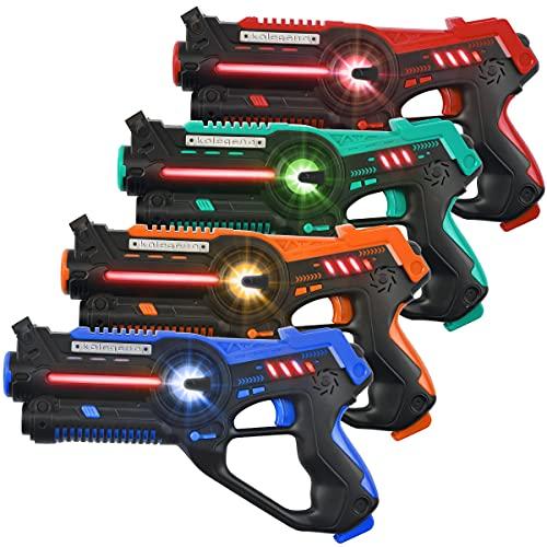 kolegend Laser Tag Set, Laser Tag Guns Set of 4 Multi Function Lazer Guns for Multi Player Teenager Kids and...