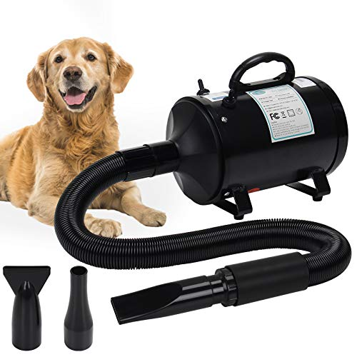 winniehome 3.2HP Pet Grooming Hair Dryer for Dogs and Cats, High Velocity Hairdryer Blaster Fur Blower with...