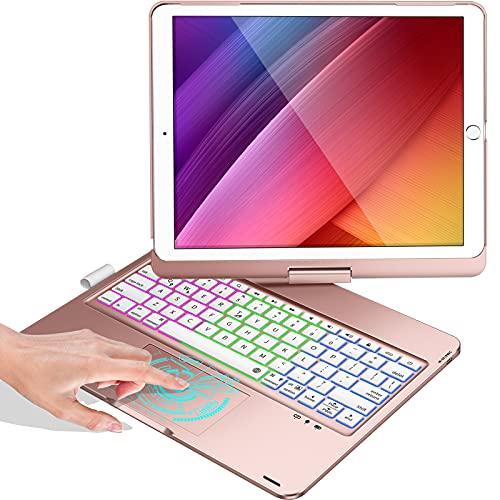 Touchpad Keyboard Case for iPad 8 Gen 2020, iPad 7 Gen 2019, iPad Air 3 2019, iPad Pro 10.5 inch 2017,...