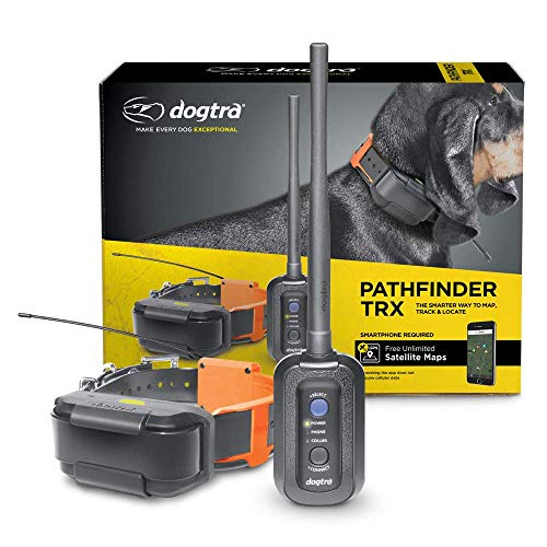 Dogtra Pathfinder TRX 9-Mile 21-Dog Expandable Waterproof Smartphone GPS-Only Tracking Collar with 2-Second...