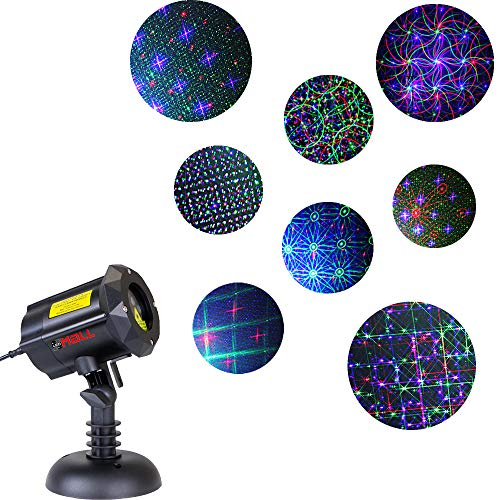 LedMAll Motion 8 Patterns in 1 RGB Outdoor Garden Laser Christmas Lights with RF Remote Control and Security...