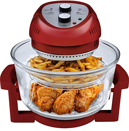Big Boss Oil-less Air Fryer, 16 Quart, 1300W, Easy Operation with Built in Timer, Dishwasher Safe, Includes...