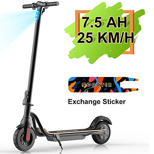 MEGAWHEELS S10 Electric Scooter Commute to Work or Ride for Fun, 7500 mAh Long Range Battery, Up to 25 KM/H,...
