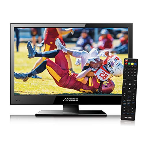 Axess TVD1805-15 LED HDTV Includes AC/DC TV DVD Player HDMI/SD/USB Inputs, Wall Mountable, Stereo Speaker...