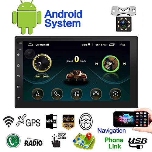Double Din Android Car Navigation Stereo Standard 1G/16G Car Entertainment Multimedia Radio,WiFi/BT Tethering...