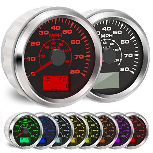 BLUERICE 7 Backlight Universal GPS Speedometer 0-120Km/h 0~80MPH 85MM GPS Speed Odometers Speed Gauges...