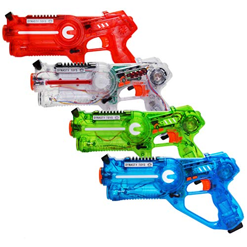 Dynasty Toys Laser Tag Set for Kids Multiplayer 4 Pack