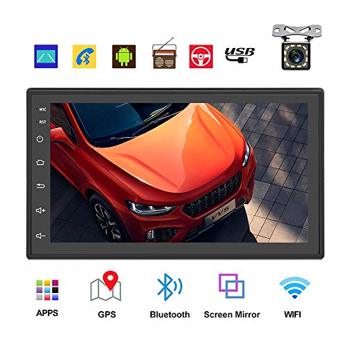 Podofo Double Din Car Radio GPS Navigation Android Car Stereo 7 Inch HD Touch Screen Car MP5 Player Dual USB...