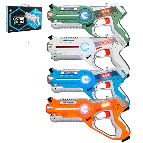 JOYMOR Laser Tag Guns Set of 4 Tag Blasters ,Multiplayer Mode,Best Toy for Boys Girls for Indoor and Outdoor...