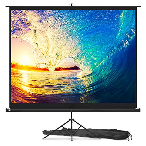 Projector Screen with Stand 100 inch - Indoor and Outdoor Projection Screen for Movie or Office Presentation -...
