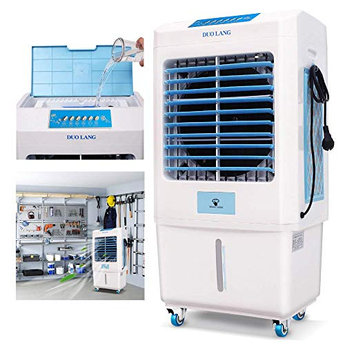 DUOLANG 2059 CFM Outdoor Indoor Portable Evaporative Cooler Swamp Cooler with Tower Fan & Air Conditioner...