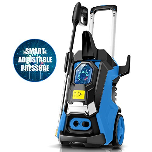 TEANDE 3800PSI Pressure Washer, TED5255 Smart Electric Pressure Washer 2.8 GPM Three Modes of Touch Screen...