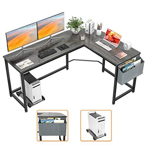 Homfio L Shaped Desk 58'' Computer Corner Desk Gaming Desk PC Table Writing Desk Large L Study Desk Home...